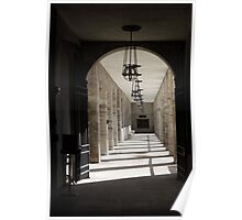 Portico of Light and Shadows Poster