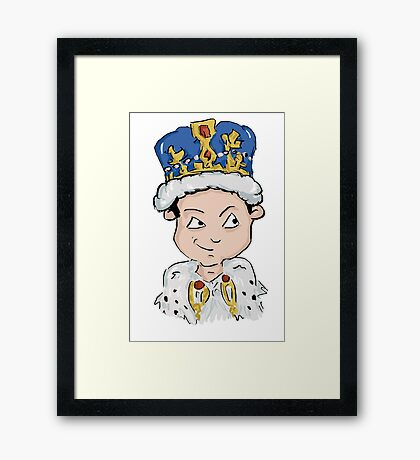 Sherlock Moriarty Andrew Scott Cartoon Framed Print