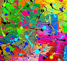 ColourSplatter-Available As Art Prints-Mugs,Cases,Duvets,T Shirts,Stickers,etc by Robert Burns