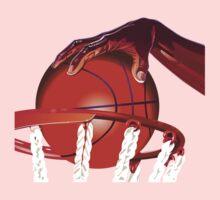 Basketball Slam Dunk Point Print  Kids Tee