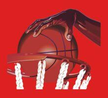 Basketball Slam Dunk Point Print  One Piece - Short Sleeve