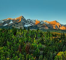 Mt Sneffels and the Dallas Divide at Sunrise by Ken Smith