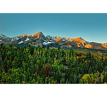 Mt Sneffels and the Dallas Divide at Sunrise Photographic Print