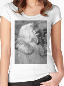 Smoking in London Women's Fitted Scoop T-Shirt