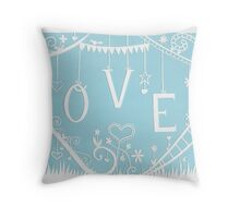 LOVE IS MESSY - 13 Throw Pillow