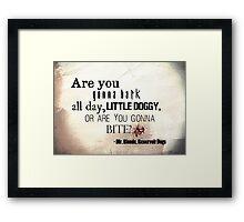 Little Doggy Framed Print
