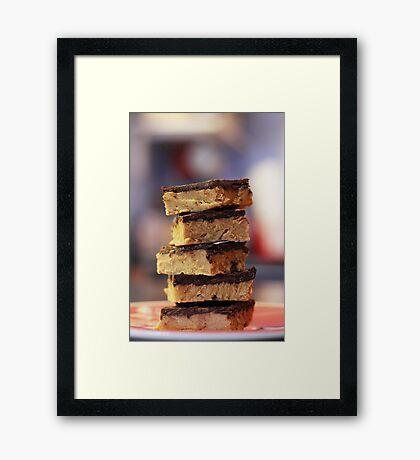 Chocolate peanut butter bars Framed Print