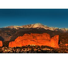 Pikes Peak and Garden of the Gods Photographic Print