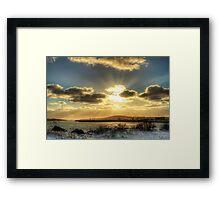 Yarmouth Bar Sunburst Framed Print