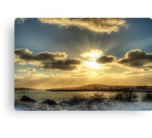 Yarmouth Bar Sunburst Canvas Print