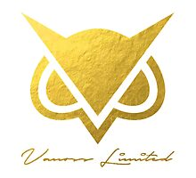 Vanoss Limited Edition Gold Foil Logo Replica - Transparent Variation  |  The FIRST and BEST Vanoss design on Redbubble! by Leptons