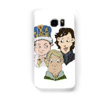 Sherlock Character Moriarty John Watson and Sherock Cartoon Samsung Galaxy Case/Skin