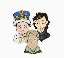 Sherlock Character Moriarty John Watson and Sherock Cartoon T-Shirt