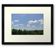 Clouds and Trees Framed Print