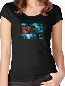 Spring at a secure location Women's Fitted Scoop T-Shirt