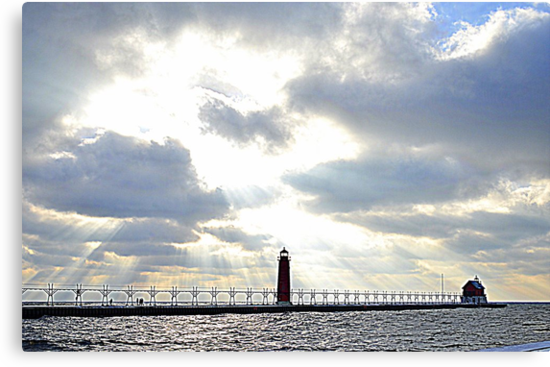Grand Haven Lighthouse by Debbie  Maglothin