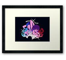 Ryūko and Satsuki with Garterbelt Framed Print