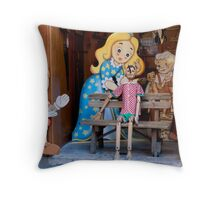 Puppet Bench Throw Pillow