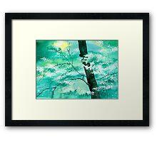 White N Green Framed Print