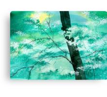 White N Green Canvas Print