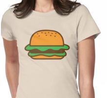 Hamburger bun with meat Womens Fitted T-Shirt