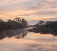 Misty Idle Sunrise by John Dunbar