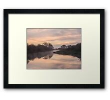 Misty Idle Sunrise Framed Print