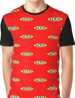 TAXI red cab light  Graphic T-Shirt