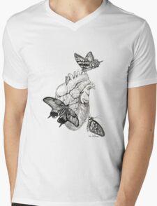 Heart Flutter Mens V-Neck T-Shirt