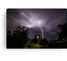 Lightning over suburbia  Canvas Print