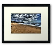 Beach victor harbor, South Australia  Framed Print
