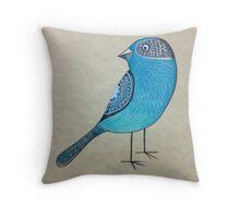 Hello bluebird Throw Pillow