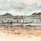 Shek O Beach in Summer by Adolfo Arranz