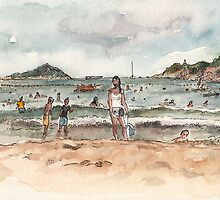 Shek O Beach in Summer by Adolfo Arranz
