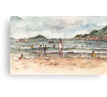 Shek O Beach in Summer Canvas Print