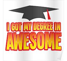 I got my Degree in AWESOME! funny Graduation present Poster