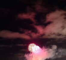 New Years Fireworks Geelong, Port Phillip Bay by PatrickLawrence