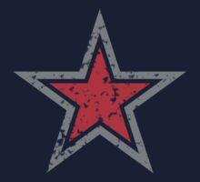 RED military uniform star distressed Kids Tee