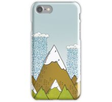 Rainy day over the Alps iPhone Case/Skin