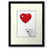 The Bear that Hates on Haters Framed Print