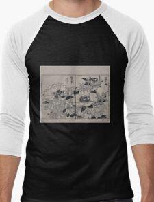 Peony blossoms 001 Men's Baseball ¾ T-Shirt