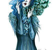 blue roses by madalina