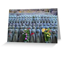 Statues with flowers 4 Greeting Card