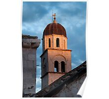 Franciscan Monastery Tower at Sunset Poster