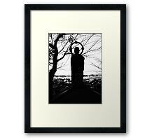 Buddhist Silhouette Framed Print