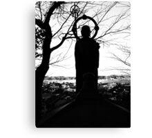 Buddhist Silhouette Canvas Print