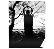 Buddhist Silhouette Poster