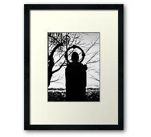 Buddhist Silhouette 2 Framed Print
