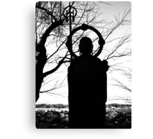 Buddhist Silhouette 2 Canvas Print