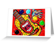 GUITAR MOUTH SEQUEL Greeting Card